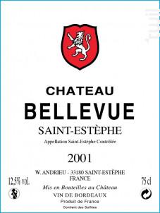 Château Bellevue - Château Bellevue - 2001 - Rouge