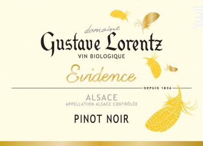 PINOT NOIR EVIDENCE BIO - Gustave Lorentz - 2016 - Rouge