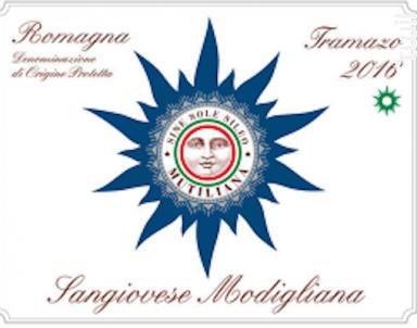 Romagna sangiovese Tramazo - Mutiliana - 2016 - Rouge