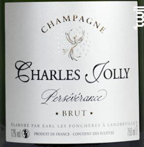 Brut Persévérance - Champagne Charles Jolly - Non millésimé - Effervescent