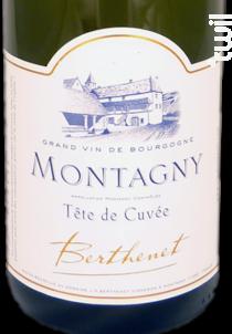 MONTAGNY TETE DE CUVEE - Jean-Pierre Berthenet - 2017 - Blanc