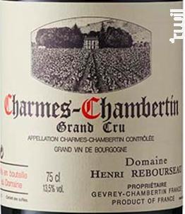 Charmes-Chambertin - Domaine Henri Rebourseau - 2012 - Rouge