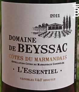 L'Essentiel - Domaine de Beyssac - 2011 - Rouge