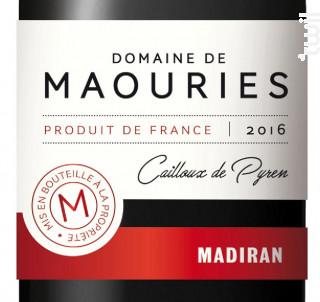 Cailloux de Pyren - Domaine de Maouries - 2016 - Rouge