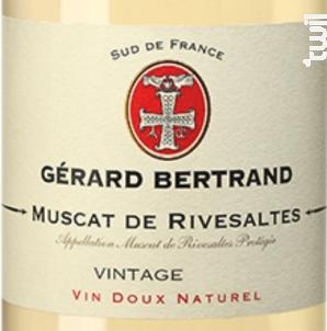 VIN DOUX NATUREL MUSCAT DE RIVESALTES - Maison Gérard Bertrand - Cross Serie - 2018 - Blanc