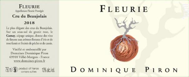 Fleurie - Dominique Piron - 2017 - Rouge