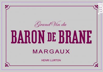 Baron de Brane - Château Brane Cantenac - 2001 - Rouge
