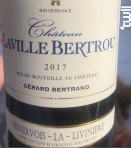 CHATEAU LAVILLE BERTROU - Maison Gérard Bertrand - Château Laville Bertrou - 2017 - Rouge
