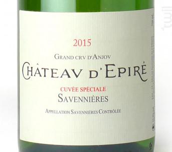 Cuvée Spéciale - Château d'Epiré - 2015 - Blanc