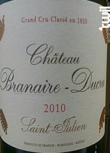 Château Branaire-Ducru - Château Branaire-Ducru - 2010 - Rouge