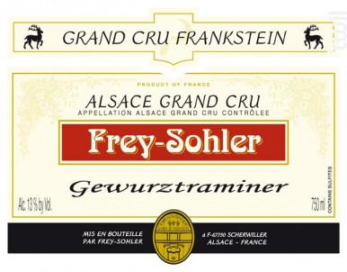 Gewurztraminer Grand Cru Frankstein - ALSACE FREY-SOHLER - 2013 - Blanc