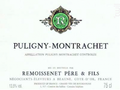 Puligny-Montrachet - Remoissenet - 2015 - Blanc