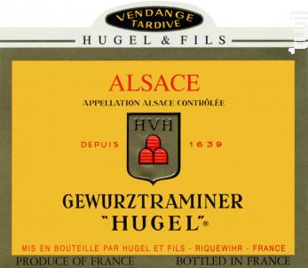 Gewurztraminer Vendanges Tardives - Maison HUGEL & Fils - 2010 - Blanc