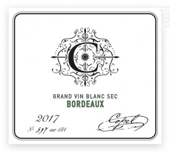 Bordeaux Blanc Sec - Copel Wines - 2018 - Blanc