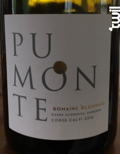 Pumonte - Domaine Alzipratu - 2016 - Rouge