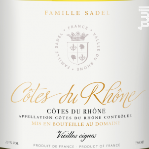 Côtes-du-Rhône Blanc - Famille Sadel - 2019 - Blanc