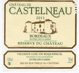 Château de Castelneau- Réserve du Château - Château de Castelneau - 2016 - Blanc