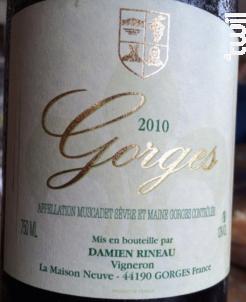 Gorges - Domaine Gorges - Damien Rineau - 1996 - Blanc