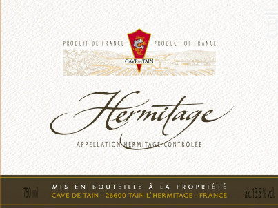 Hermitage - Cave de Tain - 1970 - Rouge