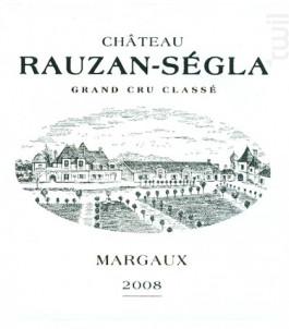 Château Rauzan-Ségla - Château Rauzan-Ségla - 2008 - Rouge
