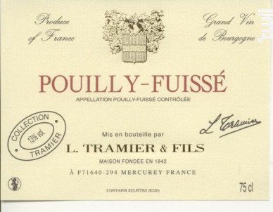Pouilly-Fuissé - Maison L. Tramier et Fils - 2017 - Blanc