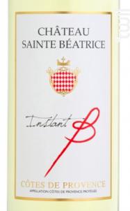 INSTANT B - Château Sainte Béatrice - 2017 - Blanc