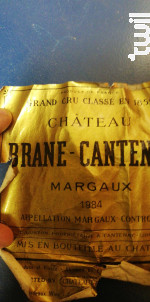 Château Brane Cantenac - Château Brane Cantenac - 1984 - Rouge