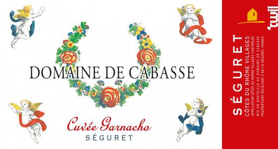 CUVEE GARNACHO - Domaine de Cabasse - 2018 - Rouge