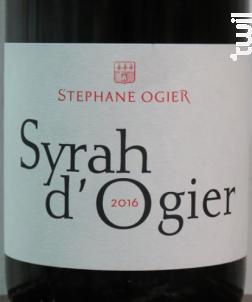 Syrah d'Ogier - Michel & Stéphane Ogier D'Ampuis - 2018 - Rouge