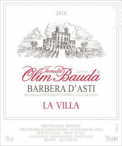 La Villa Barbera d'Asti DOCG - OLIM BAUDA - 2018 - Rouge