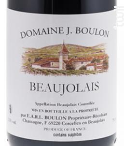 BEAUJOLAIS - Domaine J.boulon - 2014 - Rouge