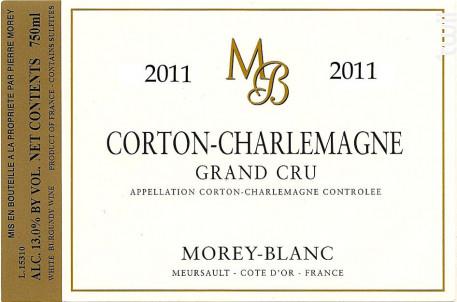Corton-Charlemagne Grand Cru - Morey-Blanc - 2011 - Blanc