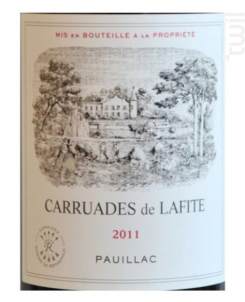 Carruades de Lafite - Domaines Barons de Rothschild - Château Lafite Rothschild - 2009 - Rouge