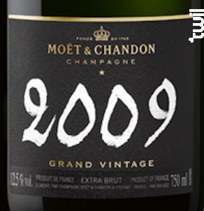Grand Vintage 2009 - Extra Brut - Moët & Chandon - 2009 - Effervescent