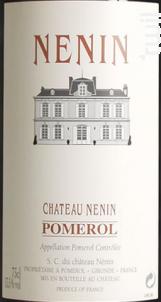 Château Nénin - Château Nénin - 2007 - Rouge
