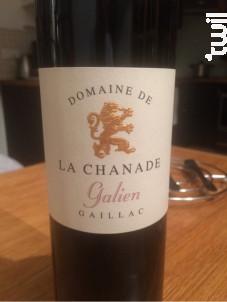 Cuvée Galien - Domaine de la Chanade - 2017 - Rouge