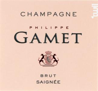 Brut Rosé de Saignée - Champagne Philippe Gamet - Non millésimé - Effervescent