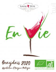 Beaujolais nouveau Bio Envie - Louis Tête - 2020 - Rouge