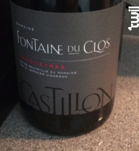 Castillon - Domaine Fontaine du clos - 2016 - Rouge