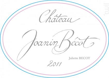 CHÂTEAU JOANIN BECOT - Juliette Bécot - 2011 - Rouge