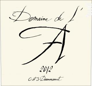 DOMAINE DE L'A - Domaine de l'A - 2012 - Rouge