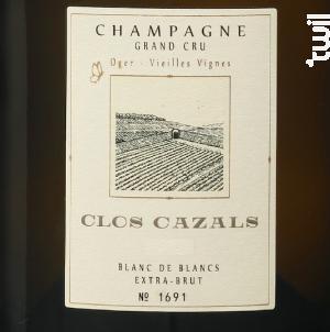 Le Clos 2003 Grand Cru - Extra Brut - Champagne Cazals Claude - 2003 - Effervescent