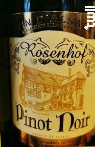 Rosenhof - Pinot Noir - Cave de Turckheim - 2016 - Rouge