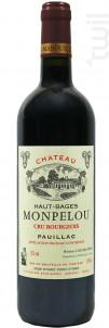 Château Haut-bages Monpelou, Cru Bourgeois Pauillac - Château Haut-Bages Monpelou - 2014 - Rouge