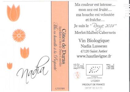 Nadia - Château Haut Lavigne - 2016 - Rouge