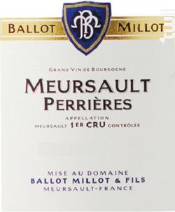 Meursault Premier Cru Les Perrières - Domaine Ballot-Millot - 2017 - Blanc
