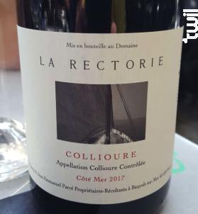 Côté Mer - Domaine de la Rectorie - 2017 - Rouge