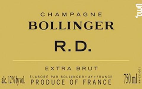 R.D. 2004 - Champagne Bollinger - 2004 - Effervescent