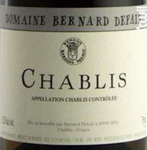 Chablis - Domaine Bernard Defaix - 2018 - Blanc