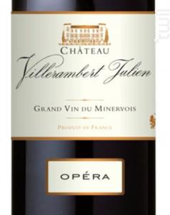 Opéra - Vignobles Bonfils - Château Villerambert - 2011 - Rouge